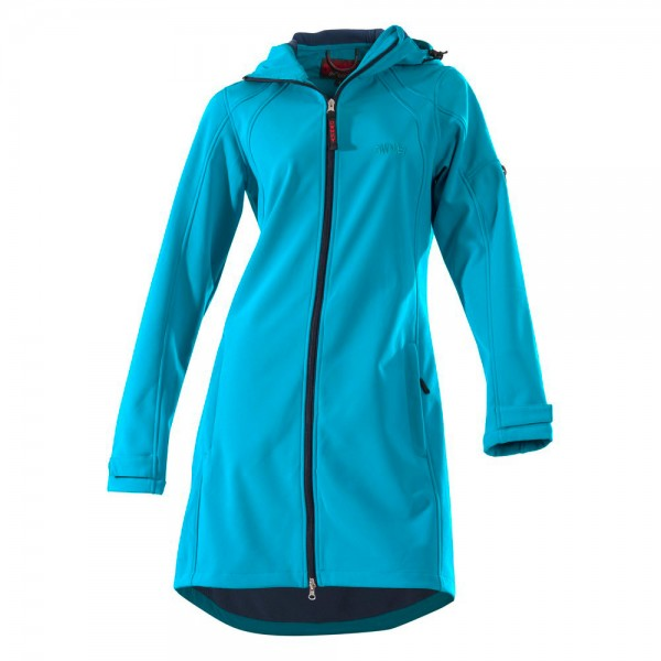 Damen Softshell Coat 'City Hiker' aqua