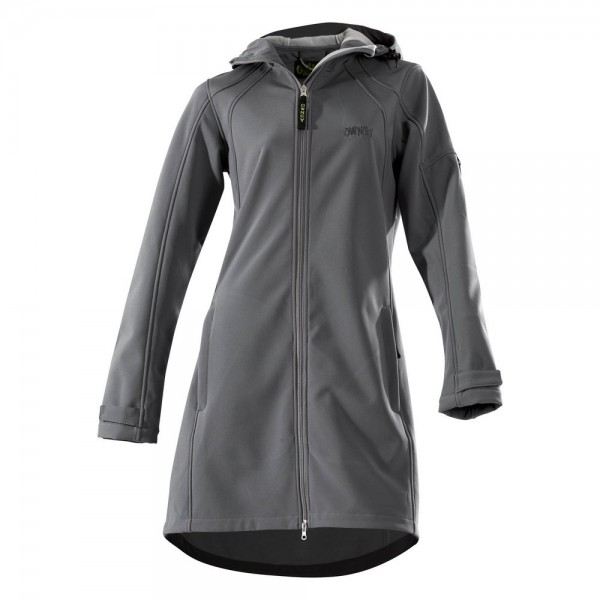 Damen Softshell Coat 'City Hiker' anthrazit